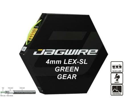 JAGWIRE Green 4mm Bike Gear Outer Cable Housing LEX-SL Pre-Lubricated JGC120